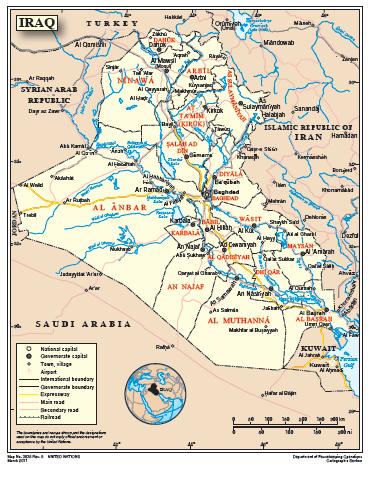 karta irak Irak   Lifos extern karta irak